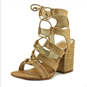 Dolce Vita Lace Up Block Heel Sandals Size 6.5